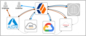 User login and access flows
